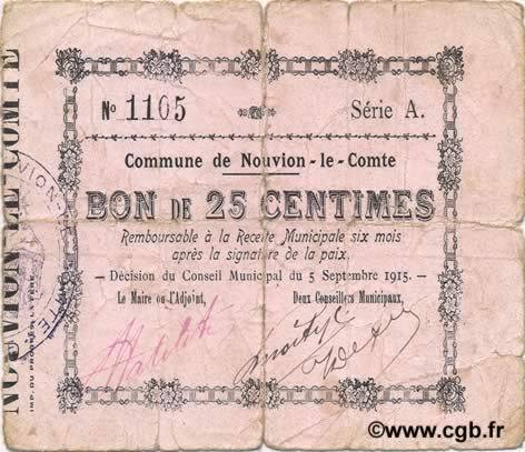 25 Centimes FRANCE regionalism and miscellaneous  1915 JP.02-1694 G