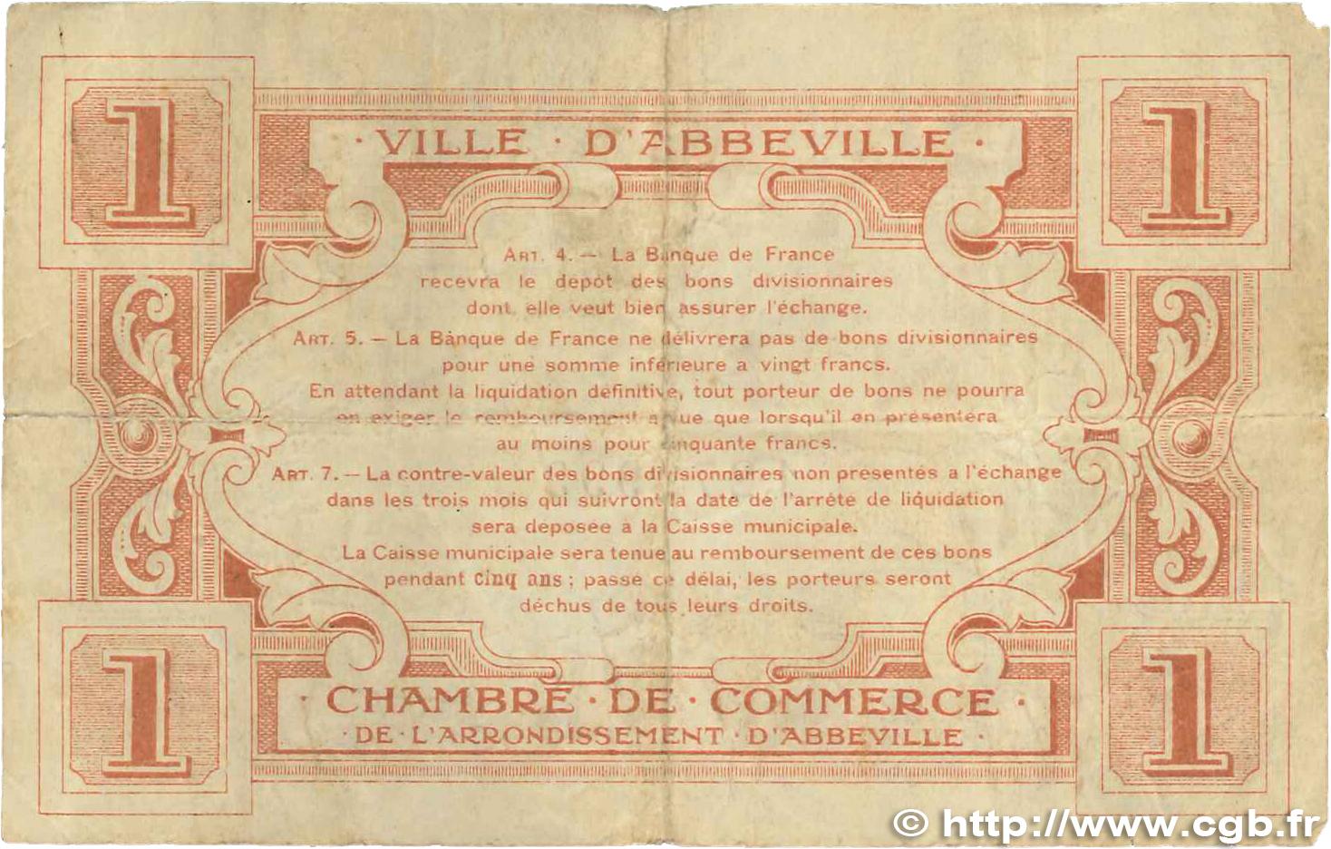 1 franc france r gionalisme et divers abbeville 1920 jp for Chambre de commerce franco australienne