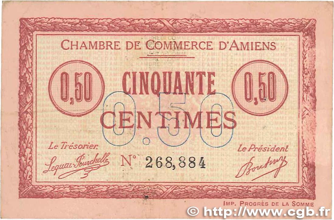 50 centimes france r gionalisme et divers amiens 1915 jp for Chambre de commerce amiens