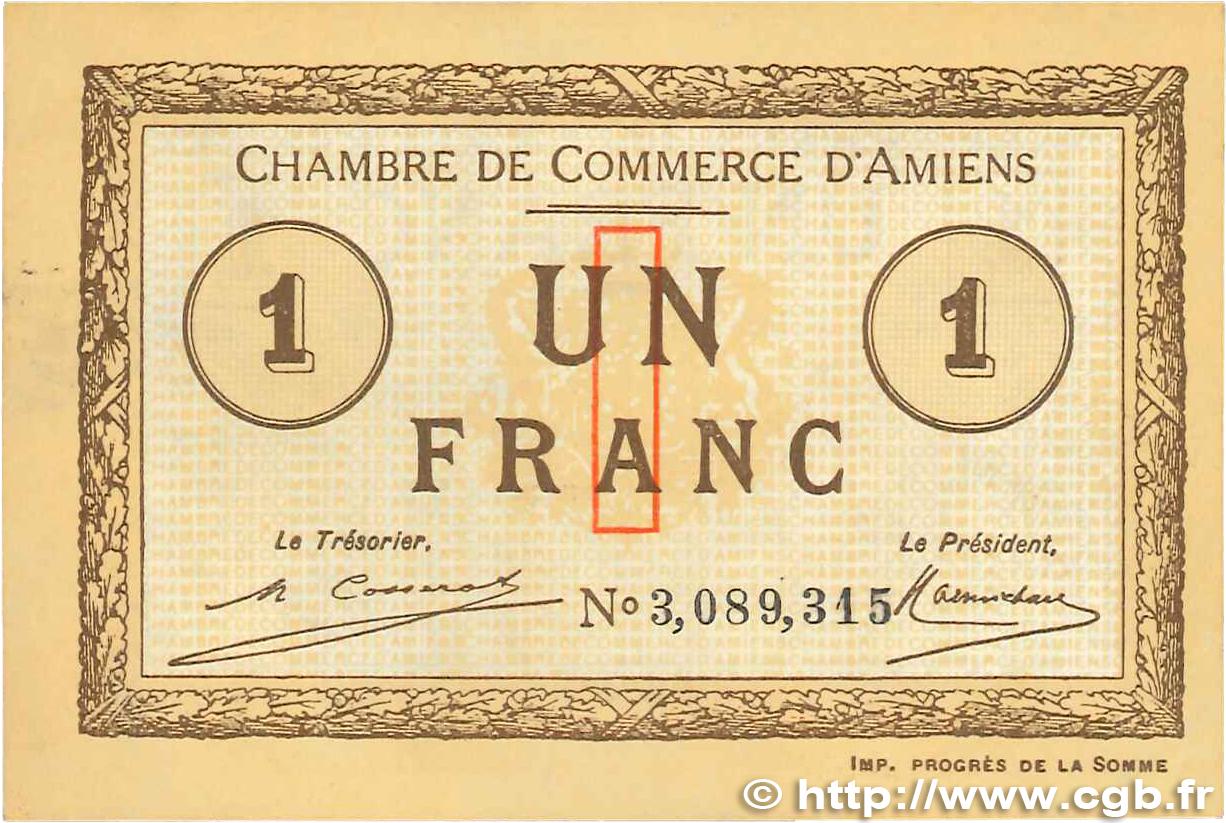 1 franc france r gionalisme et divers amiens 1920 for Chambre de commerce amiens
