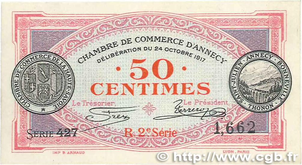 50 centimes france r gionalisme et divers annecy 1917 b99 0185 billets. Black Bedroom Furniture Sets. Home Design Ideas