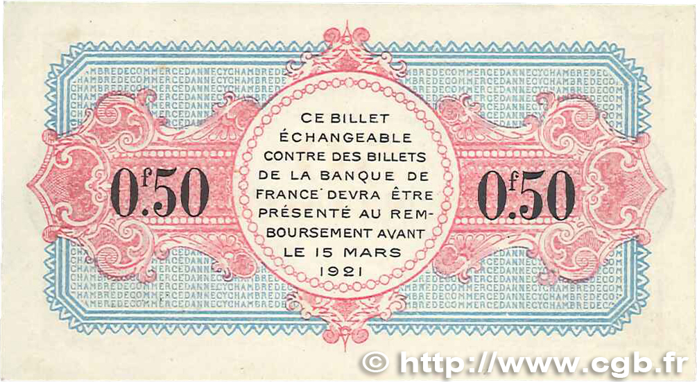 50 centimes france r gionalisme et divers annecy 1917 jp for Chambre de commerce annecy