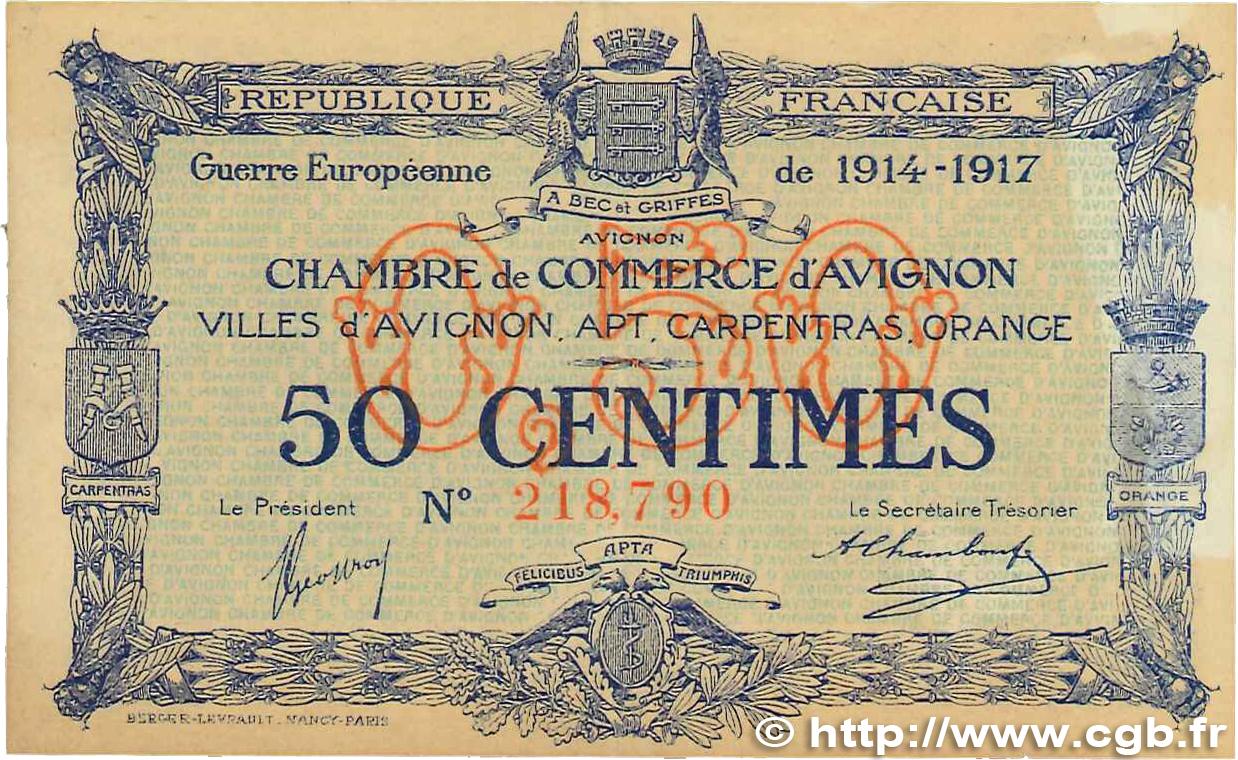 50 centimes france r gionalisme et divers avignon 1915 ttb b99 0218 billets. Black Bedroom Furniture Sets. Home Design Ideas