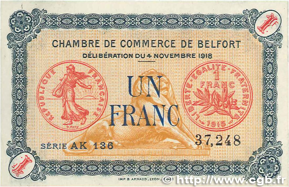 1 franc france r gionalisme et divers belfort 1918 b99 0266 billets. Black Bedroom Furniture Sets. Home Design Ideas
