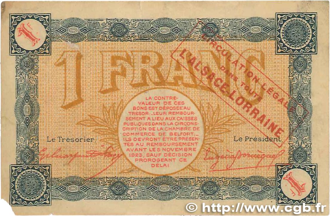 1 franc france r gionalisme et divers belfort 1918 tb b99 0270 billets. Black Bedroom Furniture Sets. Home Design Ideas