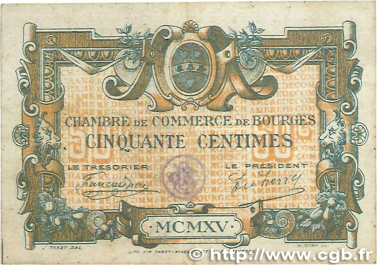 50 centimes france r gionalisme et divers bourges 1915 b99 0367 billets. Black Bedroom Furniture Sets. Home Design Ideas