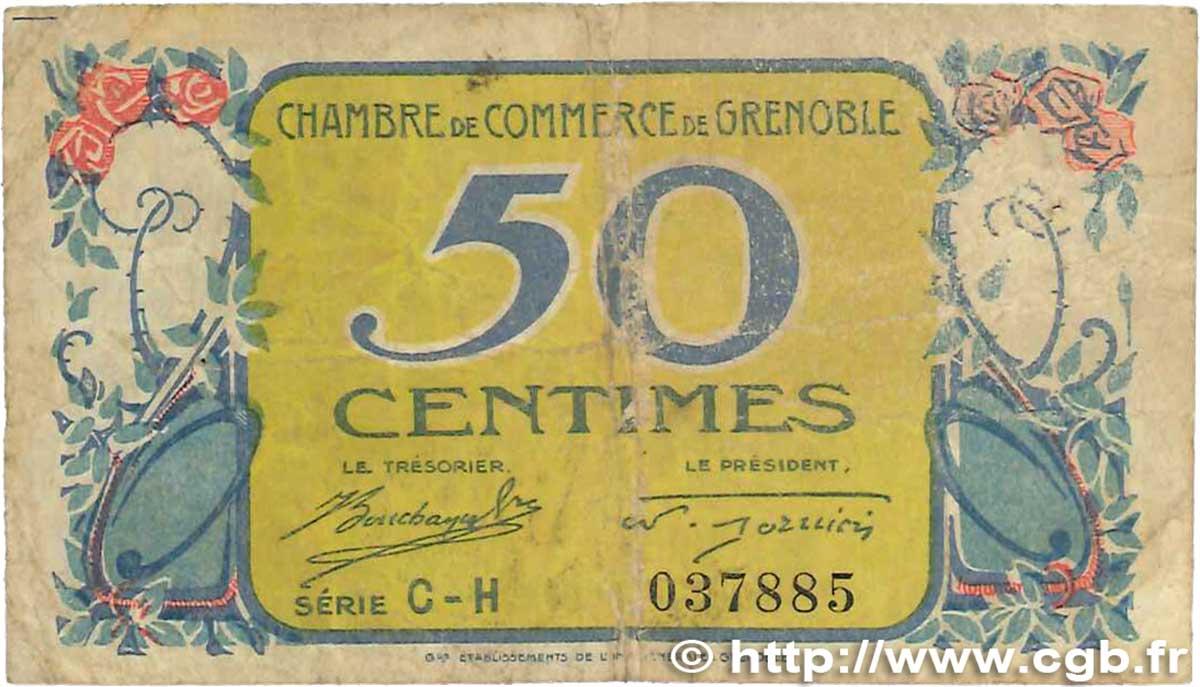 50 centimes france r gionalisme et divers grenoble 1917 b99 0706 billets. Black Bedroom Furniture Sets. Home Design Ideas