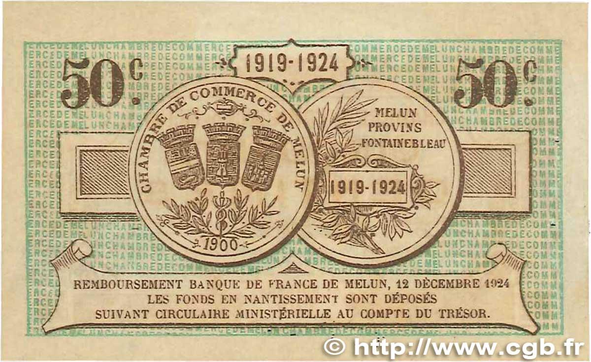 50 centimes france r gionalisme et divers melun 1919 ttb b99 1006 billets. Black Bedroom Furniture Sets. Home Design Ideas