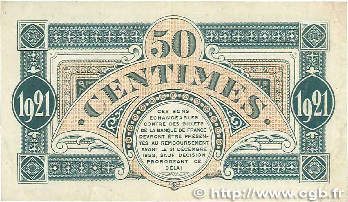 50 centimes france r gionalisme et divers mont de marsan 1921 ttb b99 1020 billets. Black Bedroom Furniture Sets. Home Design Ideas
