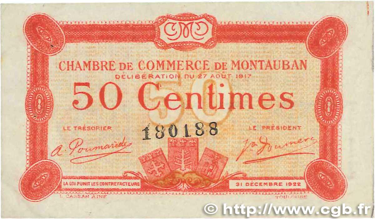50 centimes france r gionalisme et divers montauban 1917 b99 1025 billets. Black Bedroom Furniture Sets. Home Design Ideas