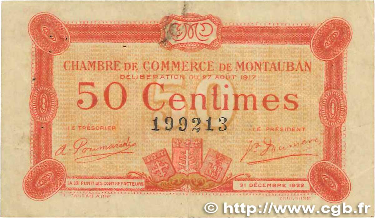 50 centimes france r gionalisme et divers montauban 1917 b99 1026 billets. Black Bedroom Furniture Sets. Home Design Ideas