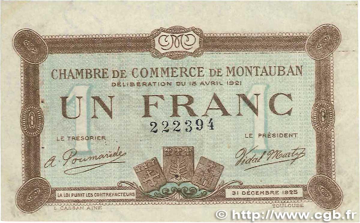 1 franc france r gionalisme et divers 1921 for Chambre de commerce montauban