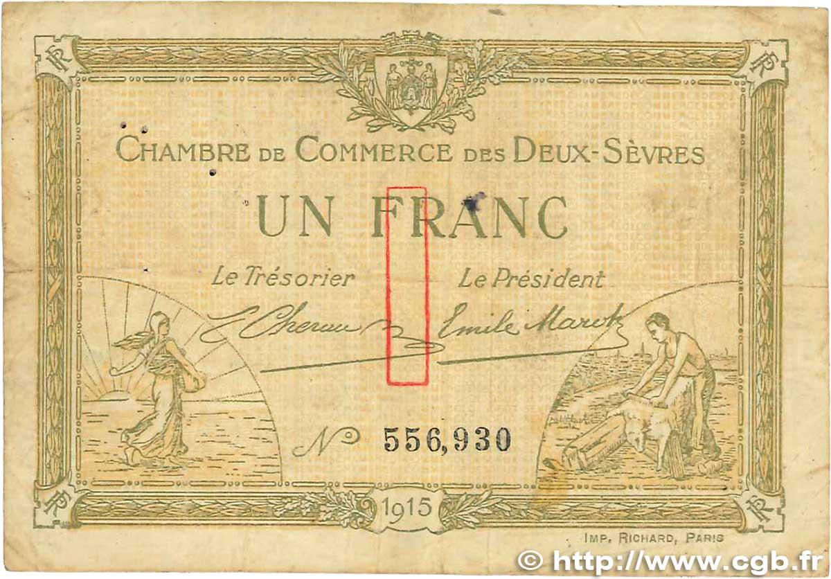 1 franc france regionalism and various niort 1915 f b99 1212 banknotes - Chambre de commerce niort ...