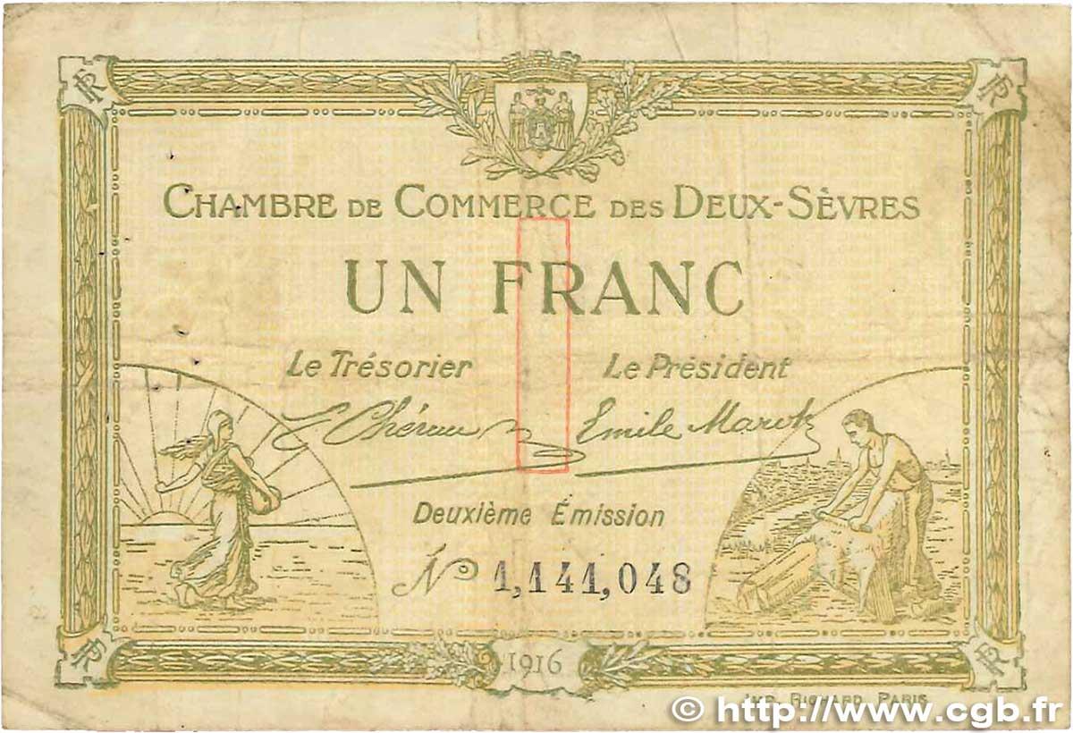 1 franc france r gionalisme et divers niort 1916 tb b99 1219 billets - Chambre de commerce niort ...