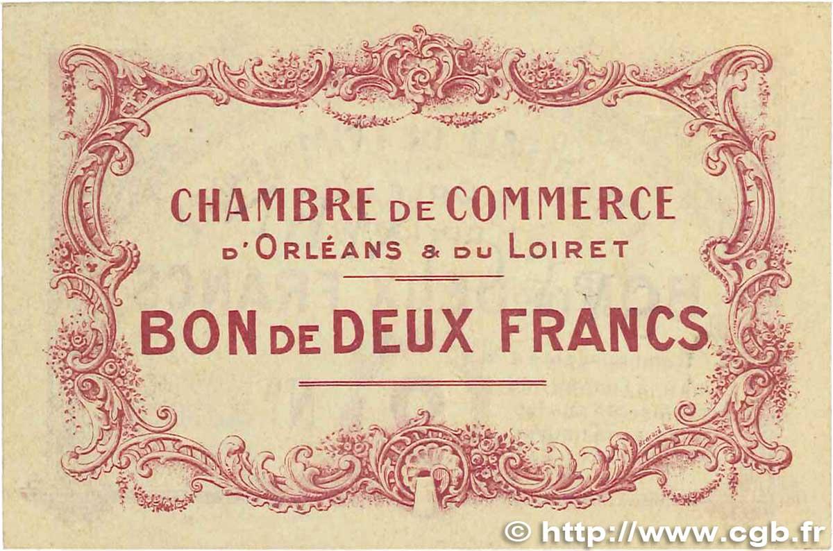 2 francs france r gionalisme et divers orl ans 1914 sup b99 1254 billets. Black Bedroom Furniture Sets. Home Design Ideas