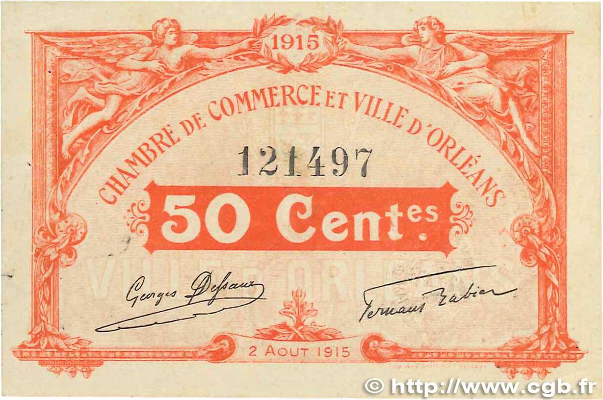 50 centimes france r gionalisme et divers orl ans 1915 b99 1260 billets. Black Bedroom Furniture Sets. Home Design Ideas