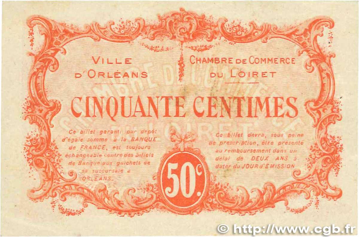 50 centimes france r gionalisme et divers orl ans 1915 ttb b99 1260 billets. Black Bedroom Furniture Sets. Home Design Ideas