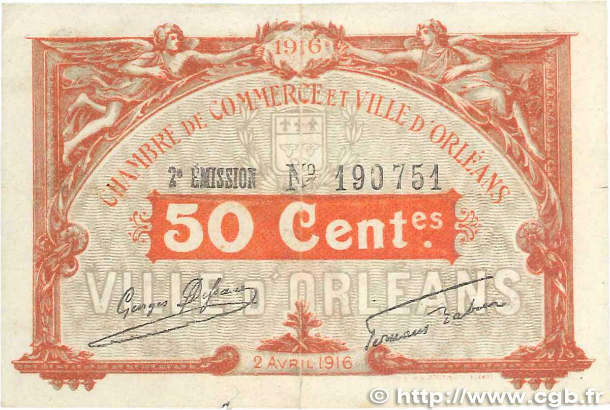 50 centimes france regionalism and various orl ans 1916 vf b99 1274 banknotes. Black Bedroom Furniture Sets. Home Design Ideas