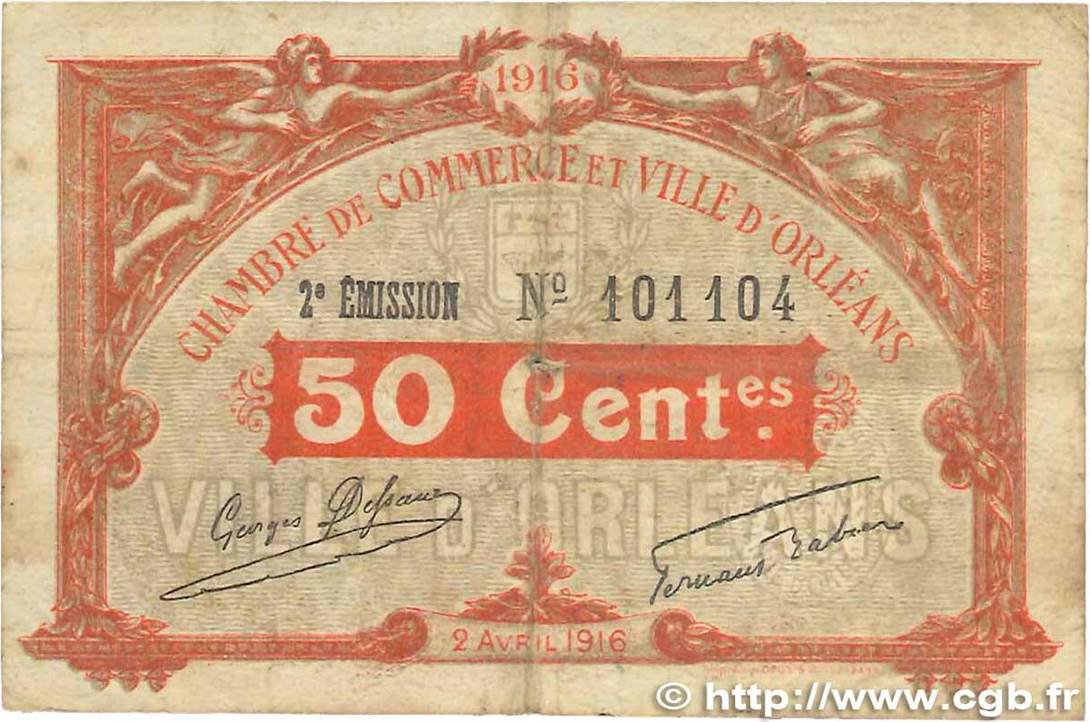 50 centimes france r gionalisme et divers orl ans 1916 b99 1275 billets. Black Bedroom Furniture Sets. Home Design Ideas