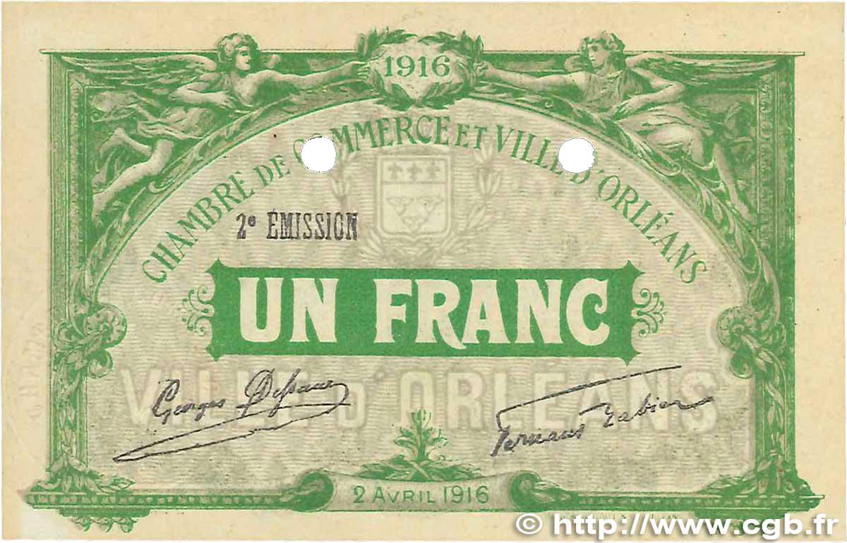 1 franc france r gionalisme et divers orl ans 1916 b99 1288 billets. Black Bedroom Furniture Sets. Home Design Ideas