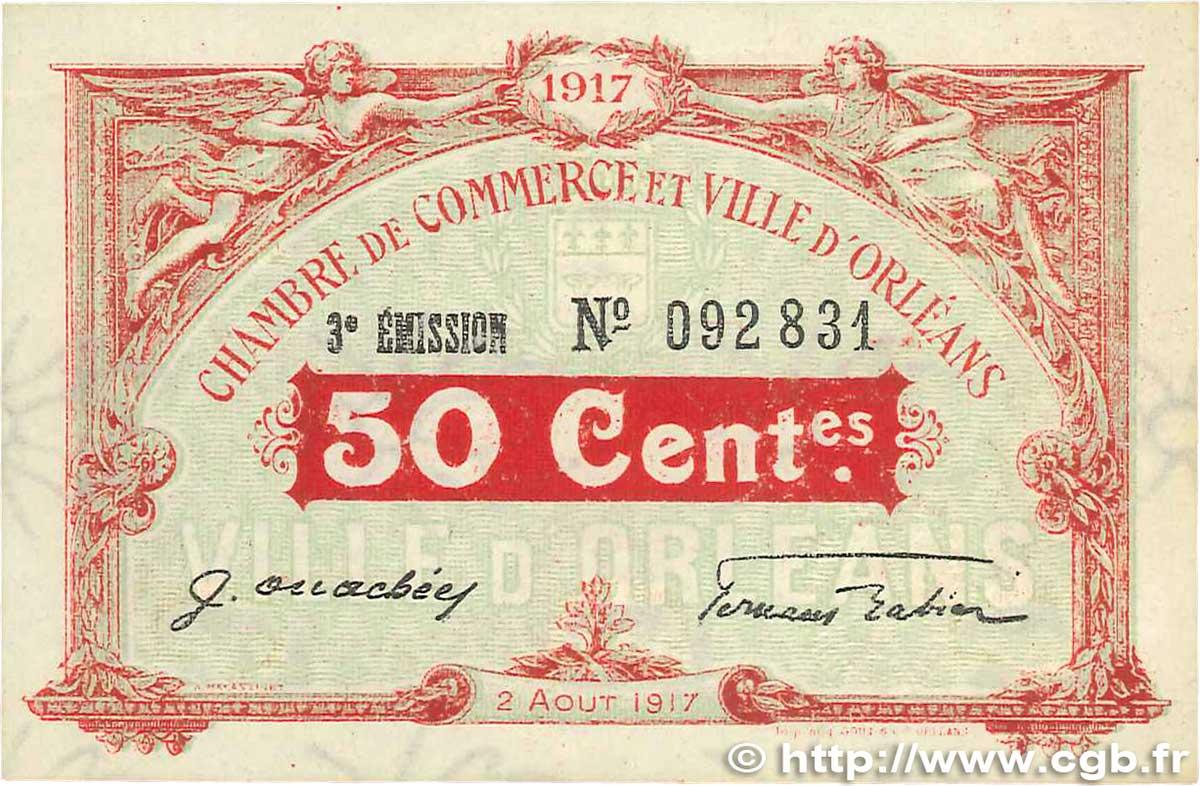 50 centimes france regionalismus und verschiedenen orl ans 1917 b99 1293 banknoten. Black Bedroom Furniture Sets. Home Design Ideas