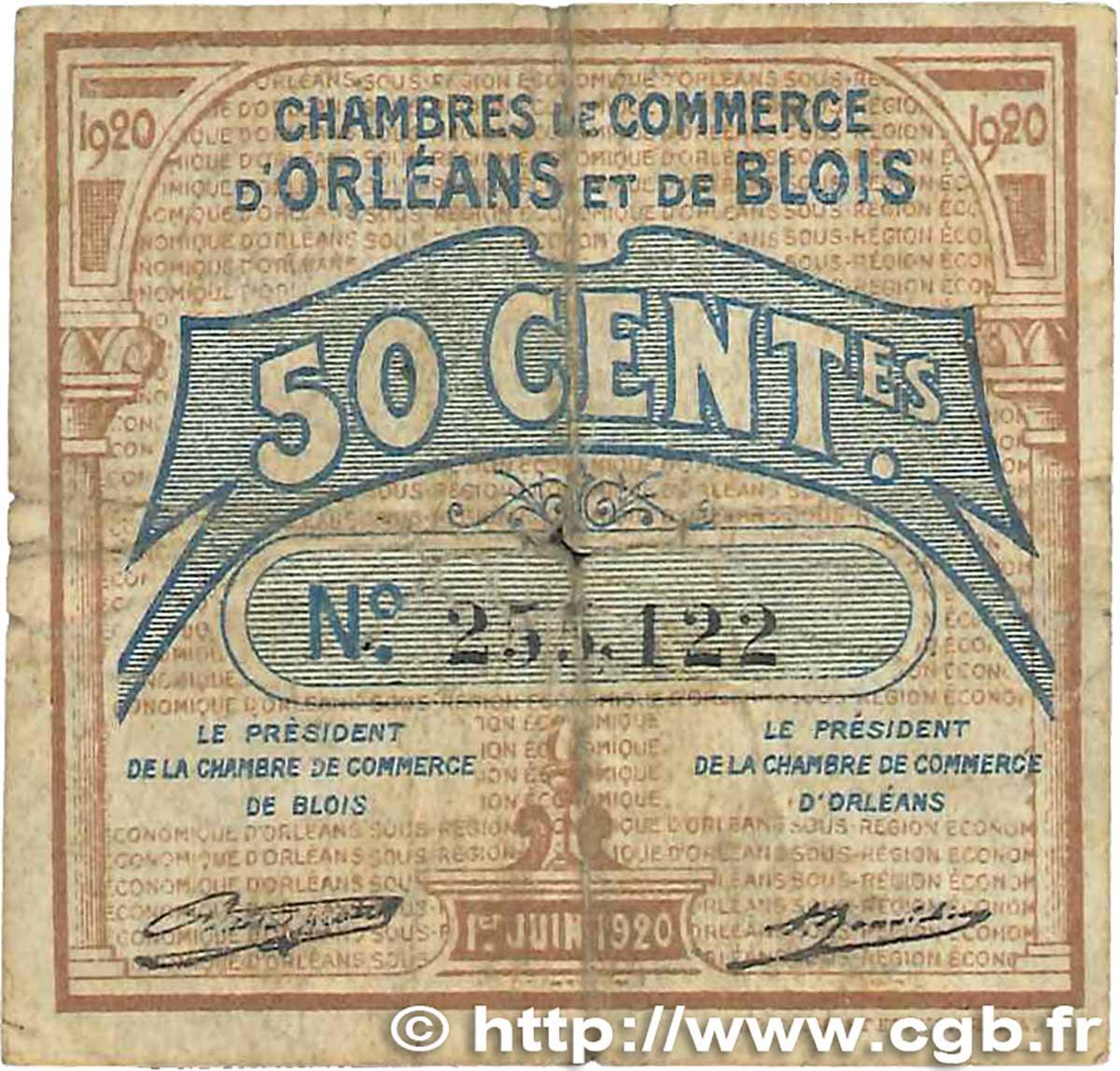 50 centimes france r gionalisme et divers orl ans et blois for Chambre de commerce orleans