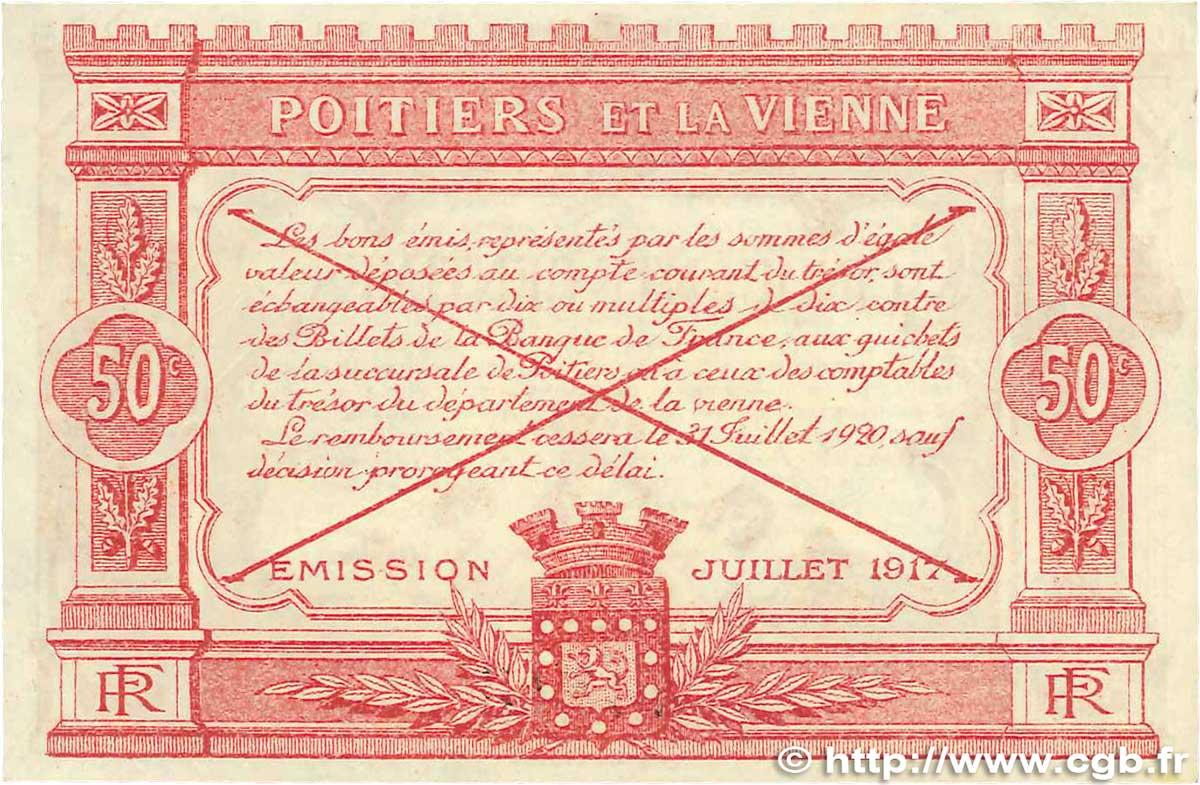 50 centimes france r gionalisme et divers poitiers 1917 jp for Poitier numero departement