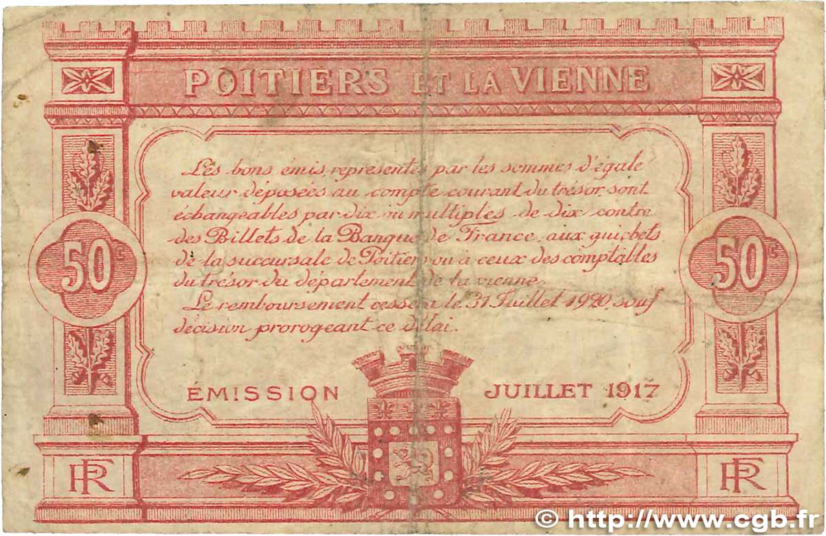 50 centimes france regionalism and miscellaneous poitiers - Chambre de commerce poitiers ...
