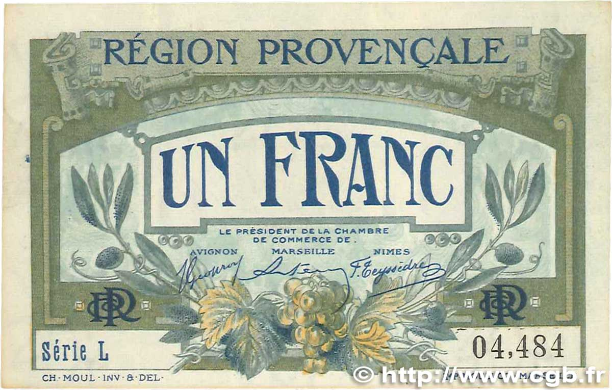 1 Franc France Regionalism And Miscellaneous Alais Arles