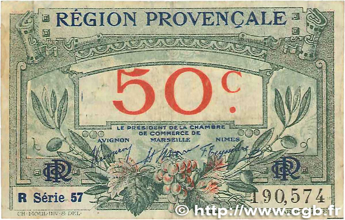 50 Centimes France Regionalism And Miscellaneous Alais