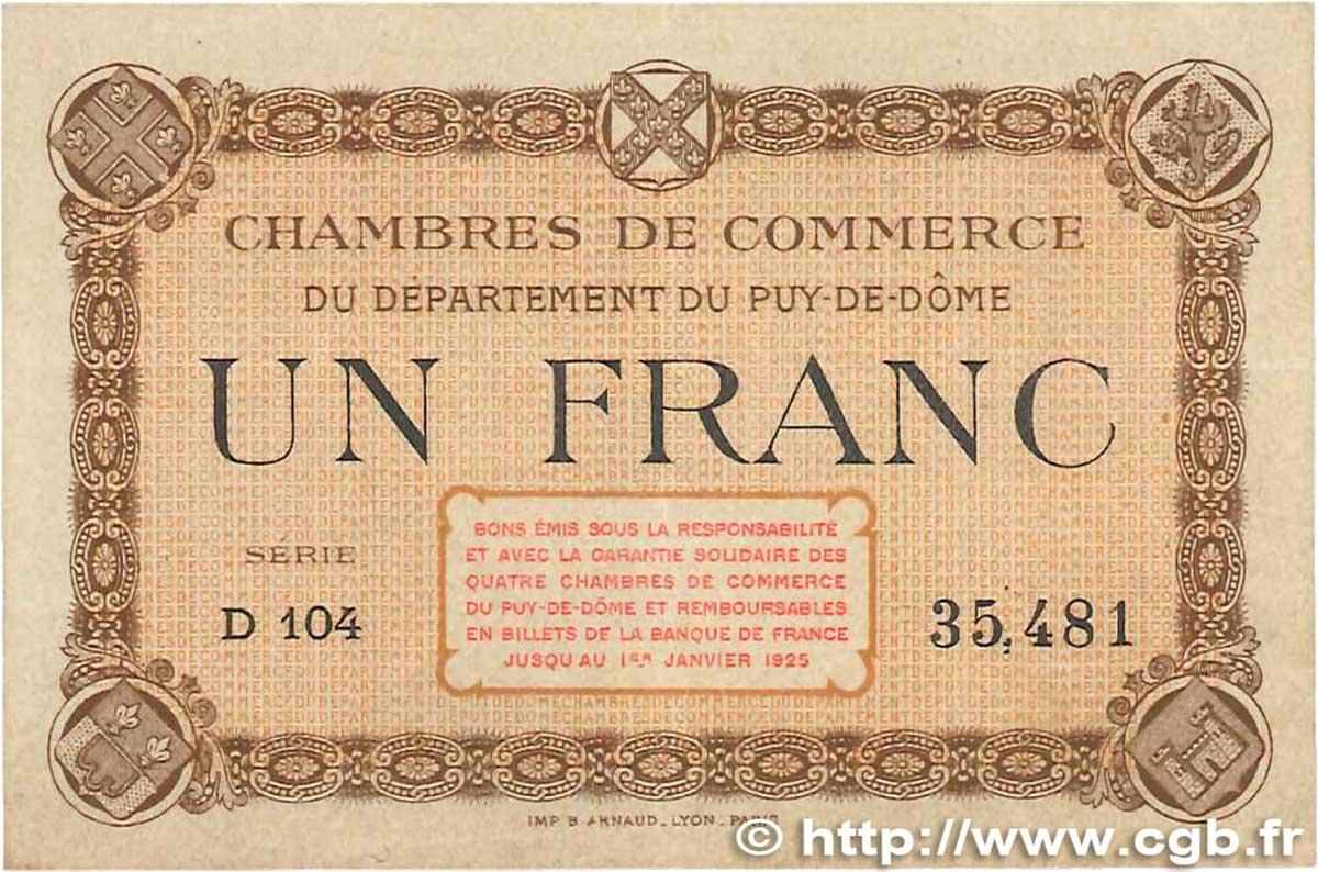 1 franc france r gionalisme et divers puy de d me 1918 jp - Chambre de commerce de clermont ferrand ...