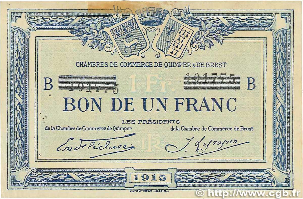 1 franc france r gionalisme et divers quimper et brest 1915 b99 1511 billets - Chambre de commerce rennes ...