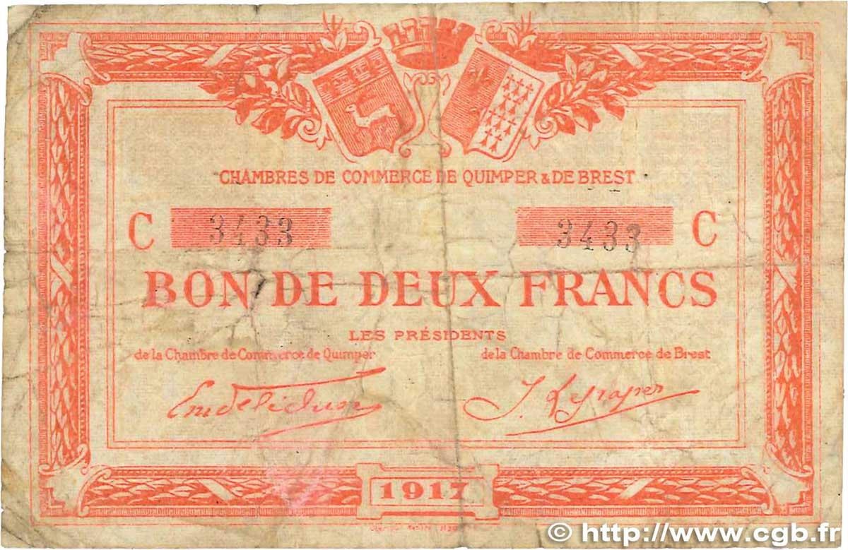 2 francs france r gionalisme et divers quimper et brest 1917 b99 1514 billets - Chambre de commerce de brest ...