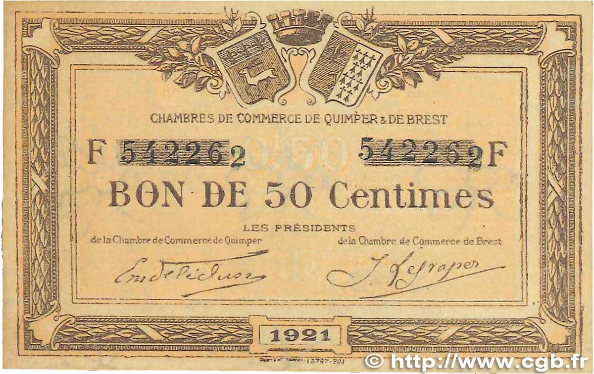 50 centimes france r gionalisme et divers quimper et brest 1921 ttb b99 1524 billets - Chambre de commerce de brest ...