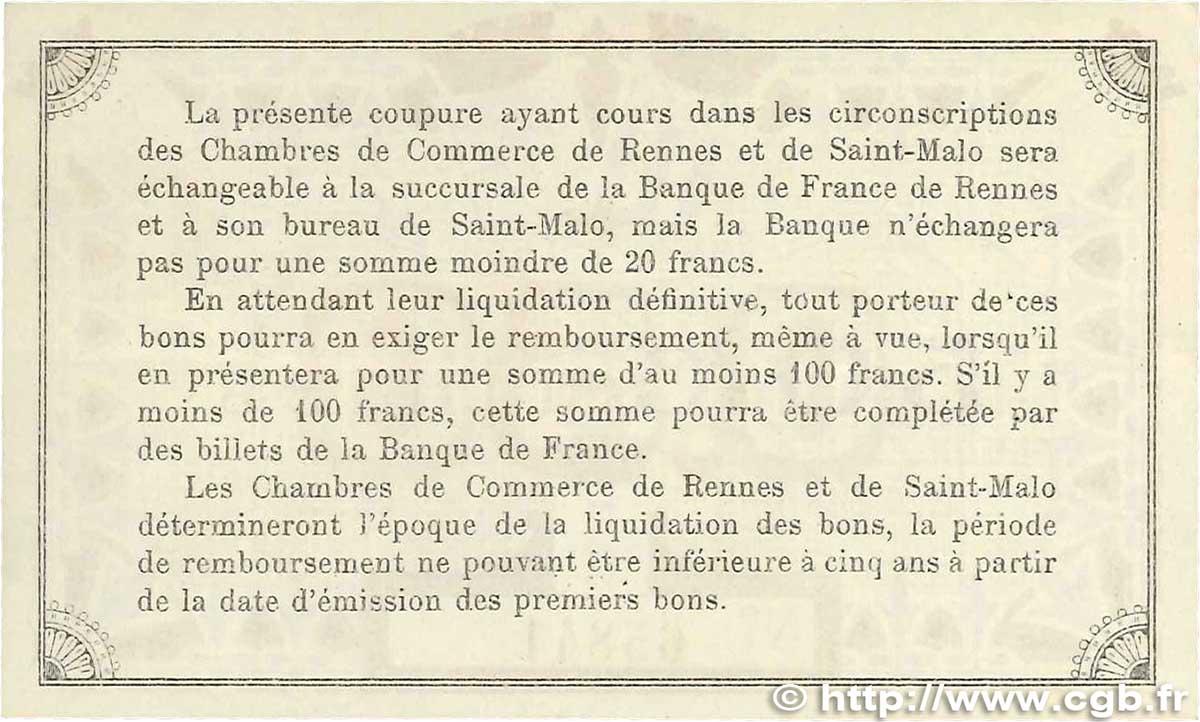 50 centimes france r gionalisme et divers rennes et saint for Chambre de commerce de rennes 35
