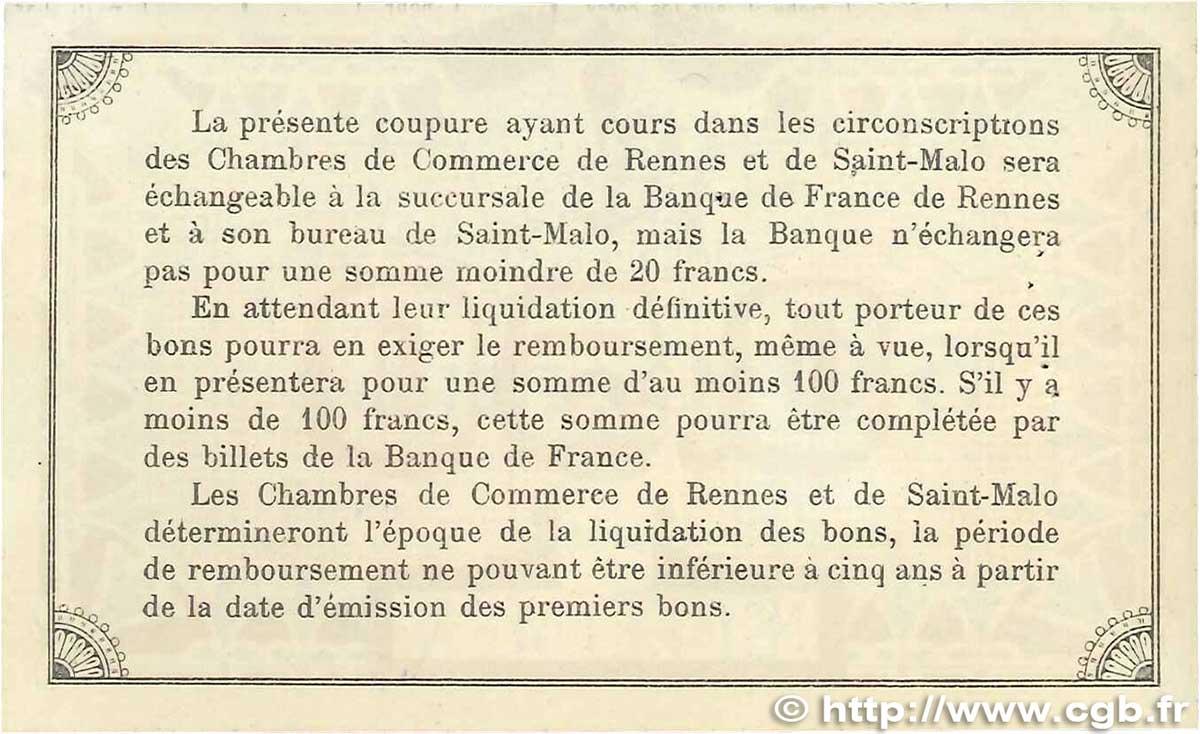 50 centimes france r gionalisme et divers 1915 for Chambre de commerce de rennes 35