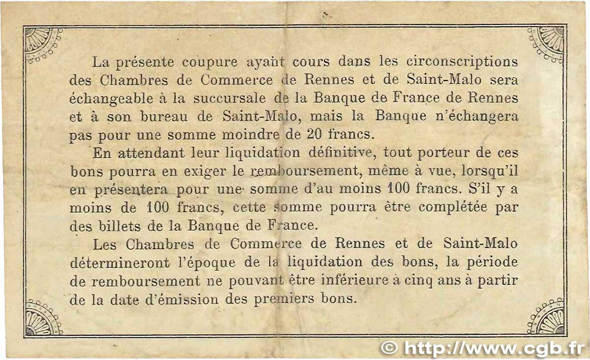 1 franc france r gionalisme et divers rennes et saint malo for Chambre de commerce rennes
