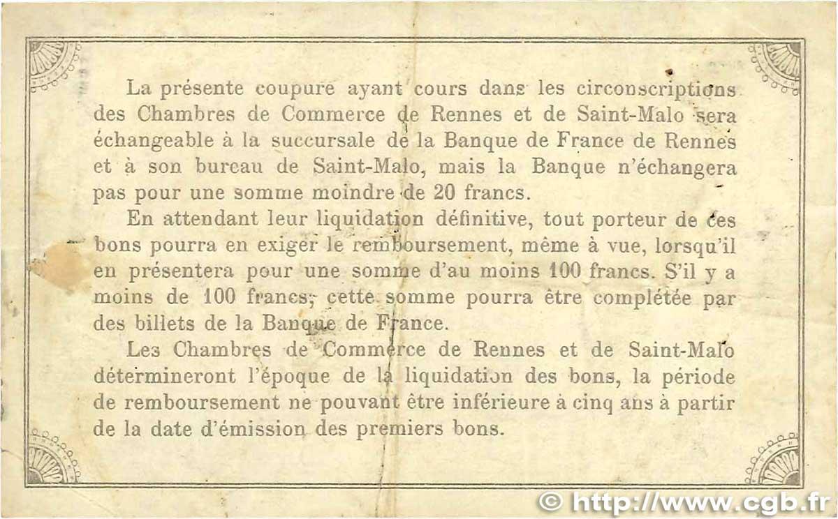 1 franc france r gionalisme et divers rennes et saint malo 1915 tb b99 1546 billets - Chambre de commerce rennes ...
