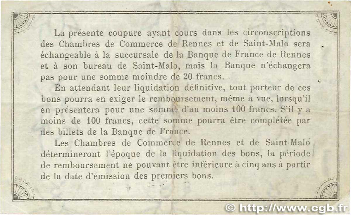 1 franc france r gionalisme et divers rennes et saint malo for Chambre de commerce de rennes 35