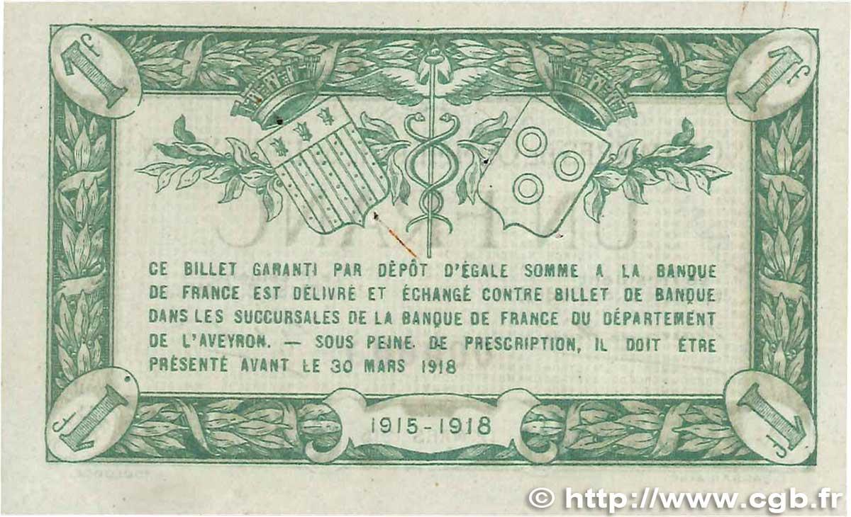 1 franc france r gionalisme et divers rodez et millau 1915 for Chambre de commerce franco colombienne