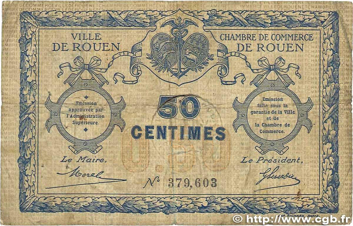 50 centimes france r gionalisme et divers rouen 1920 b99 1630 billets. Black Bedroom Furniture Sets. Home Design Ideas