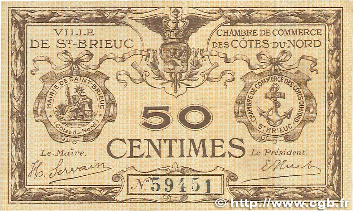 50 centimes france r gionalisme et divers saint brieuc 1918 b99 1672 billets. Black Bedroom Furniture Sets. Home Design Ideas