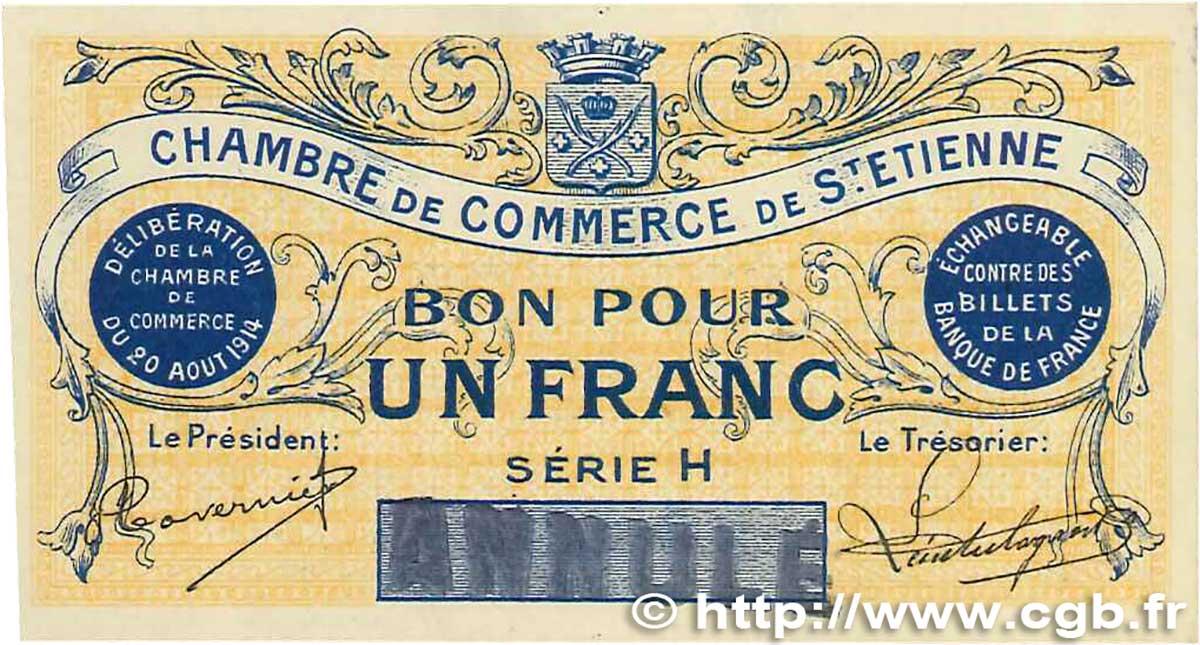 1 franc france r gionalisme et divers saint tienne 1914 - Chambre de commerce de saint etienne ...