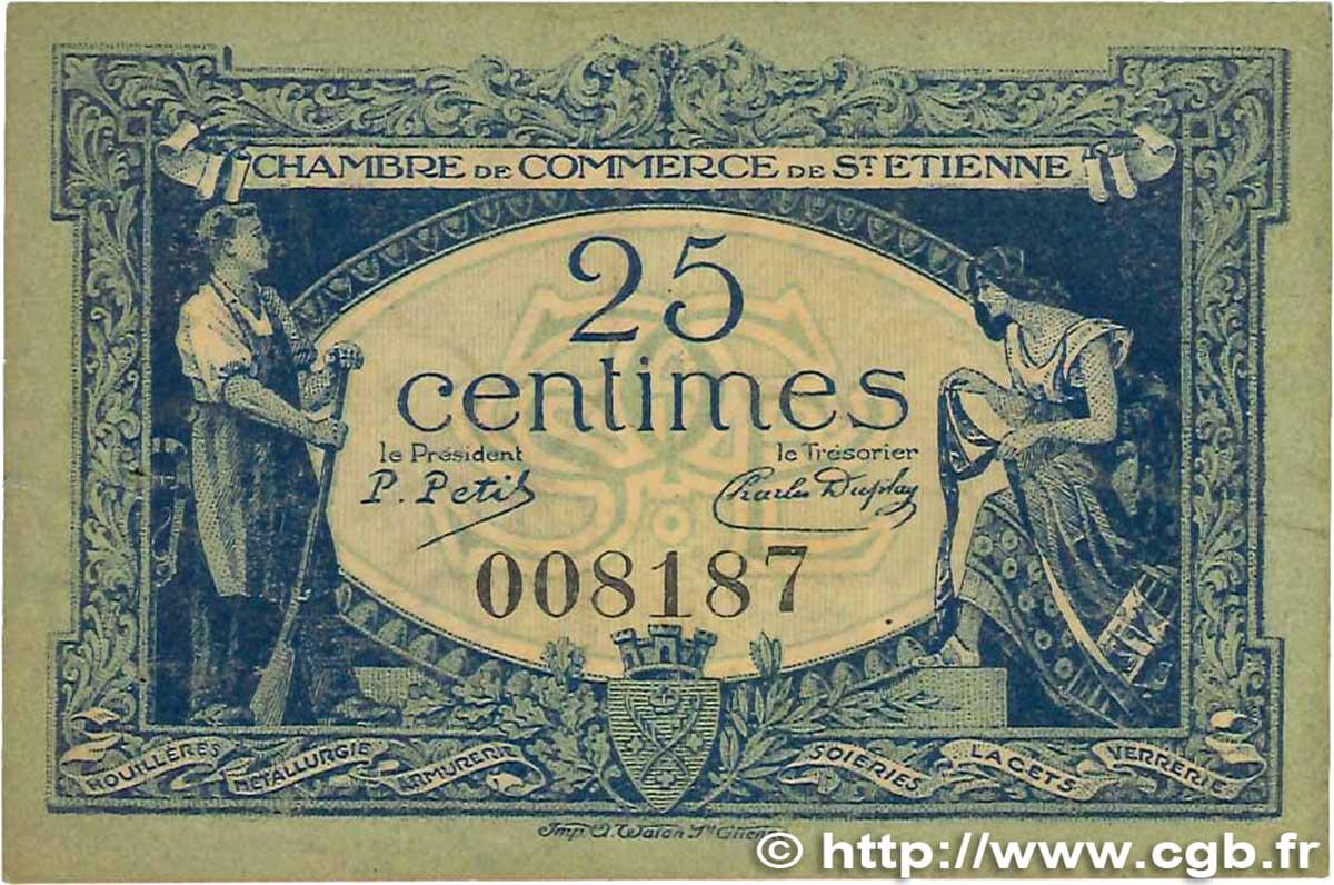 25 centimes france r gionalisme et divers saint tienne - Chambre de commerce de saint etienne ...