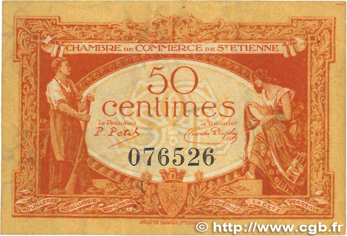 50 centimes france r gionalisme et divers saint tienne - Chambre de commerce de saint etienne ...