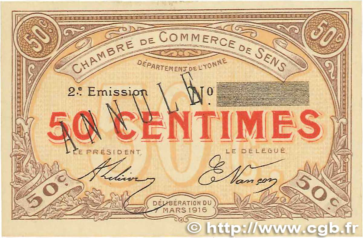 50 centimes annul france r gionalisme et divers sens 1916 b99 1785 billets. Black Bedroom Furniture Sets. Home Design Ideas