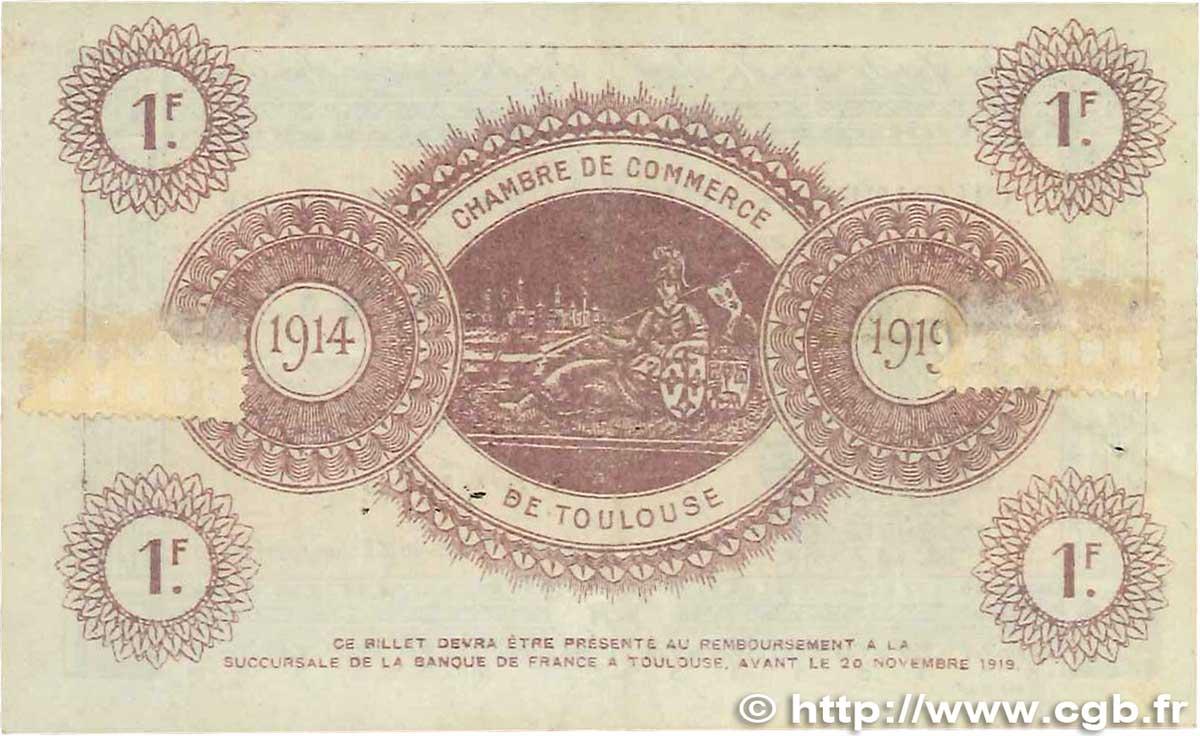 1 franc france r gionalisme et divers toulouse 1914 ttb b99 1929 billets. Black Bedroom Furniture Sets. Home Design Ideas