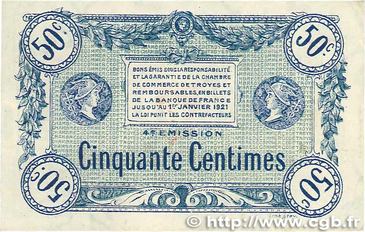 50 centimes france r gionalisme et divers troyes 1918 ttb b99 1996 billets. Black Bedroom Furniture Sets. Home Design Ideas