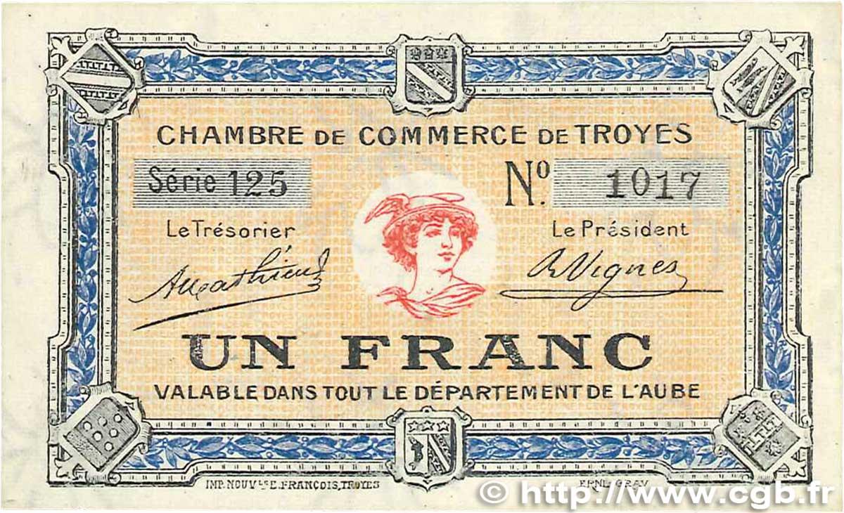 1 franc france r gionalisme et divers troyes 1918 b99 2003 billets. Black Bedroom Furniture Sets. Home Design Ideas