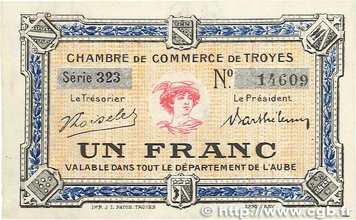 1 franc france r gionalisme et divers troyes 1918 b99 2010 billets. Black Bedroom Furniture Sets. Home Design Ideas